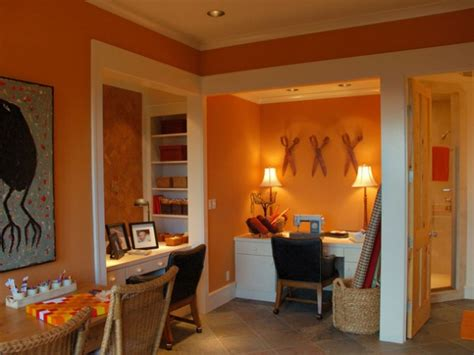 Orange Office by How To Use Orange To Warm Your Decor Freshome