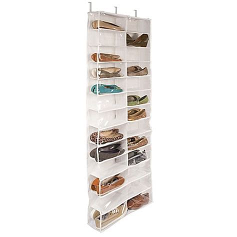 door shoe organizer closetware clear over the door 26 pocket shoe organizer bed bath beyond