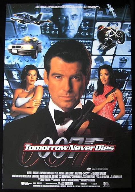 jonathan pryce the world is not enough tomorrow never dies one sheet movie poster ds 1999 james