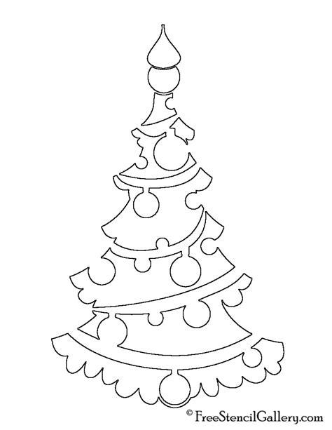 christmas tree stencil 06 free stencil gallery