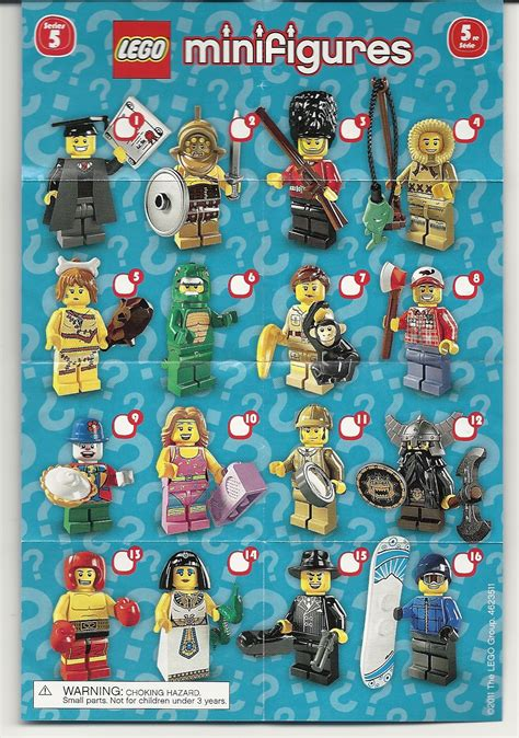 Series 8804 5 Set 3 In 1 toys and bacon minifigure checklists series 1 10