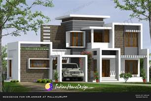 design homes free beautiful contemporary indian home design in 2850 sqft