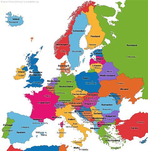 Englischer Lebenslauf Fur Deutschland Europakarte Die Karte Europa