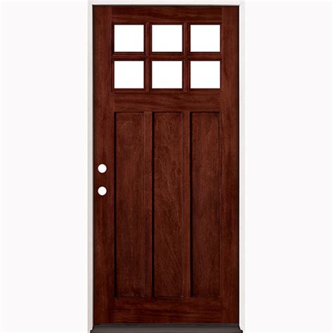 36 Inch Front Door 36 Quot Prefinished Prehung Mahogany Exterior Door Unit Right Surplus Warehouse