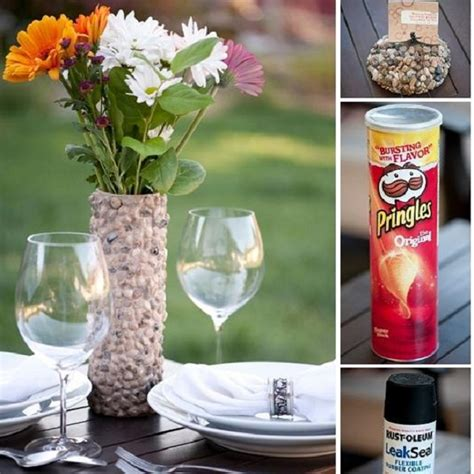 Make Flower Vase Home by Diy Flower Vase Made Out Of A Pringles Can Home Design