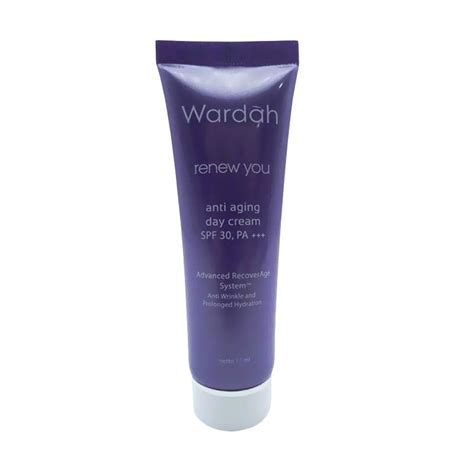 Wardah Renew You Day jual wardah renew you anti aging day pelembab wajah 17ml harga kualitas