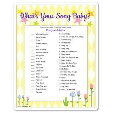 baby shower songs what s your song baby baby shower matching songs