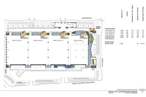 music city center floor plan level 4 karl f dean grand ballroom