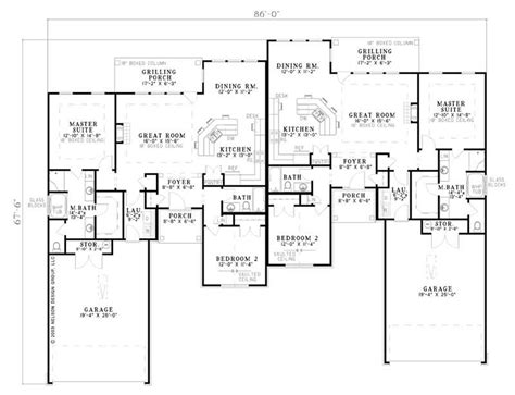 multi unit home plans multi unit house plans home design ndg 797 7885
