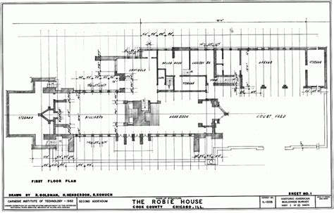 frank lloyd wright home plans robie house floor plan gif 800 215 513 frank lloyd wright