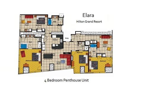 elara 4 bedroom suite floor plan elara a hilton grand vacations club photo unit floorplan