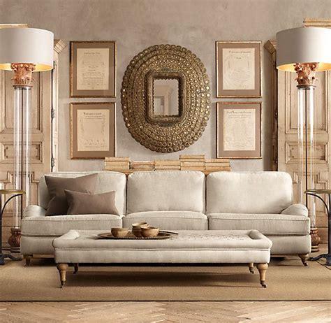 restoration hardware english roll arm sofa reviews 96 quot english roll arm upholstered sofa sofas