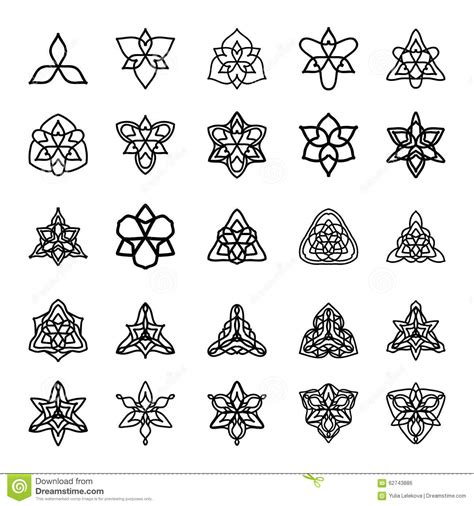 pattern is any decorative motif or design vector set of black and white decorative patterns for