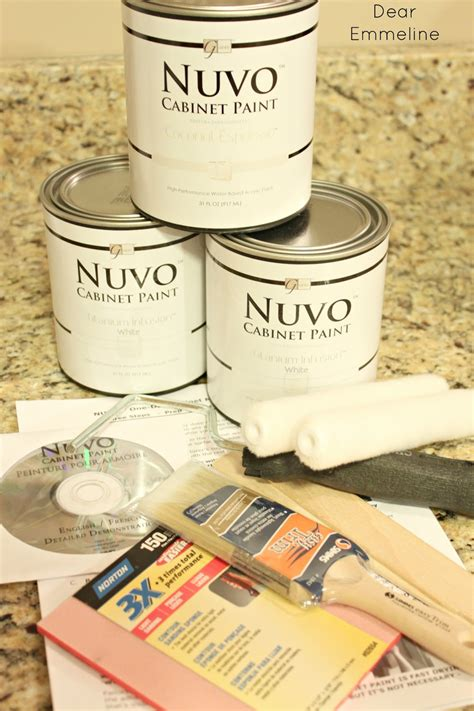 nuvo coconut espresso cabinet paint kit kitchen redo part five painting the cabinets with nuvo