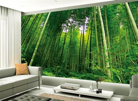 wallpaper for home decoration aliexpress buy fashion tv backdrop bamboo scenery