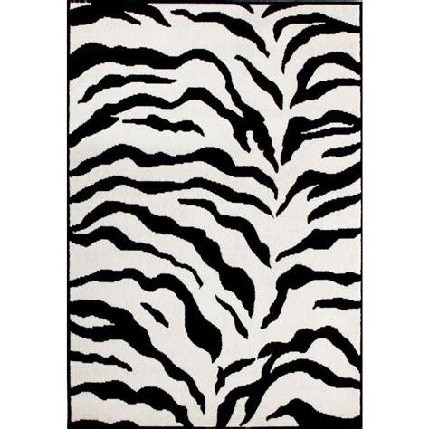 zebra printable area nuloom zebra print black and white 5 ft 3 in x 7 ft 9