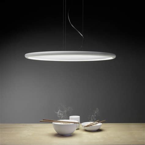 Pendant Led Lighting Grok Net Matt White Circular Led Pendant Light Fitting Type From Dusk Lighting Uk
