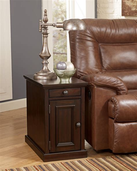 Power Chairside End Table by Brown Power Chairside End Table From T127 551