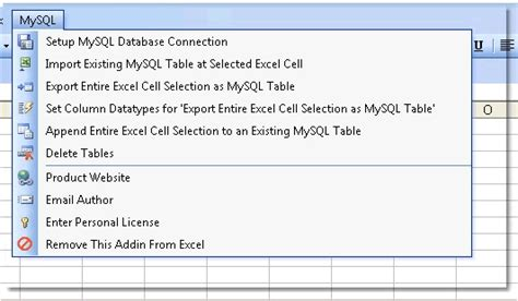 Mysql Create Table Exle by Excel To Mysql How To Use Excel To Import Export Tables To From A Mysql Database
