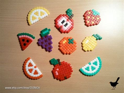 perler fruit perler bead fruit pictures to pin on pinsdaddy