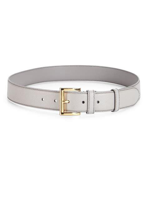 prada saffiano leather belt in lyst