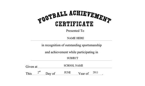 sports athletic award certificate template professional and high