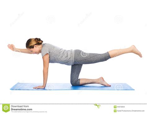 in balancing table pose on mat stock