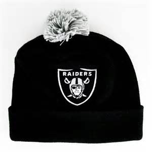 oakland raiders colors oakland raiders the cuffed pom knit team colors