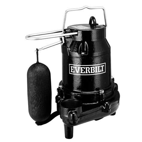 everbilt 1 2 hp cast iron sump hds50 the home depot