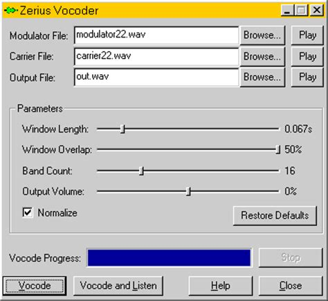 Garageband Vocoder Zerius Vocoder Free Software Audiomelody