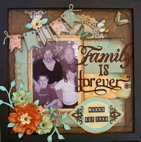 scrapbook layout holder great idea family is forever 3d frame scrapbook com