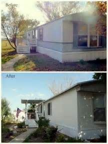 Before And After Home Exterior Makeovers - my heart s song mobile home exterior before after paint valspar satin ext asiago house
