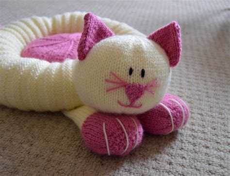 knitting pattern cat cat snuggler knitting by post