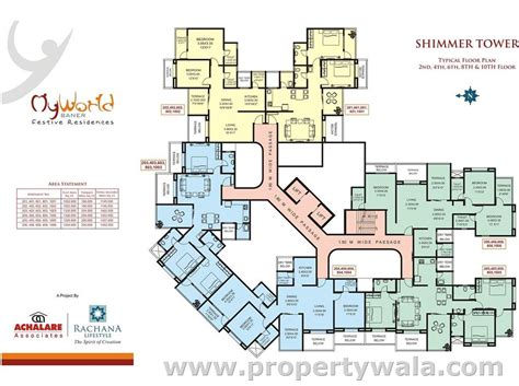 floor layout plans rachana my world baner pune apartment flat project