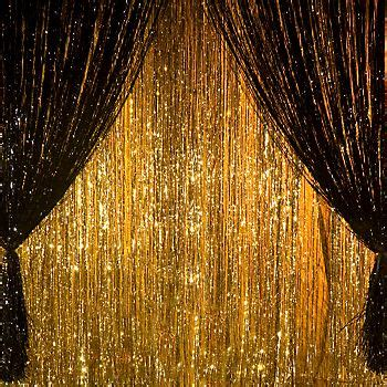 metallic foil curtains green and gold prom decor giant metallic foil curtains