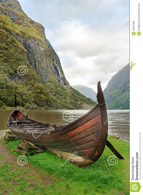 viking boats norway old viking boat in norway stock photo image 49031980