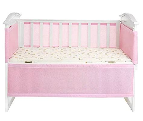 Pink Mesh Crib Bumper by Breathable Mesh Crib Liner Bumper For Baby Bed Cradle Crib