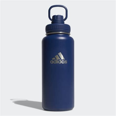 adidas active  oz stainless steel water bottle blue