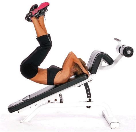 bench abs exercises reverse crunch decline hip leg raise killer lower ab