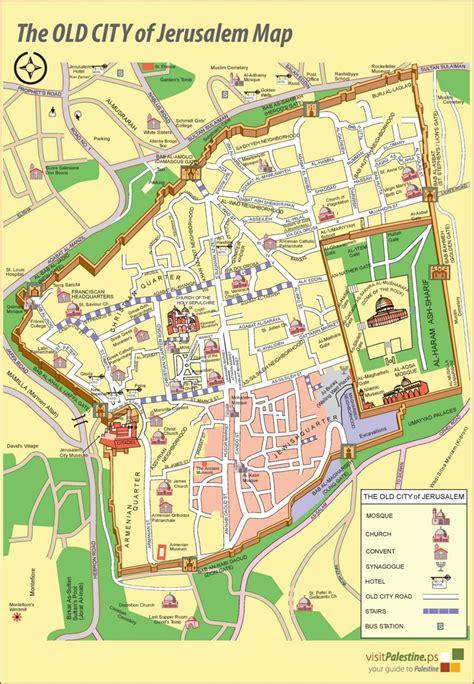 where is jerusalem on the map jerusalem city map