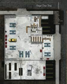 rpg floor plans illegal chop shop shadowrun floorplan shadowrun