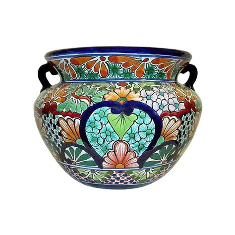 Mexican Planters Large by Talavera Planters Collection Talavera Planter Tp150