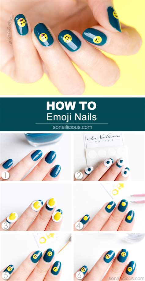 Emoji Nail Art Tutorial | emoji nails tutorial