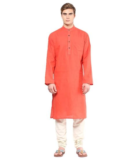 Design House Kurta Online | design house orange cotton long kurtas buy design house