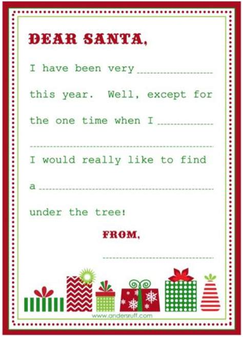 secret santa wish list template free printable blank letter to santa