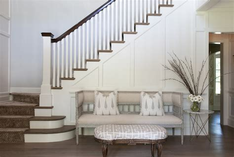 Entry Stairs Design Foyer Settee Transitional Entrance Foyer Nightingale Design