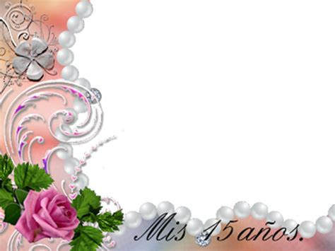 imagenes de flores para xv años marco de rosas y perlas 15 a 241 os descargar marcos para fotos