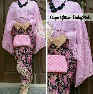 Setelan Kebaya Batik Pink Modern setelan baju kebaya cape brukat dan rok batik panjang modern