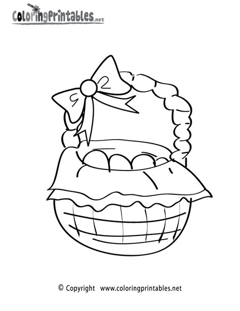 free printable coloring pages easter basket free printable easter basket coloring page