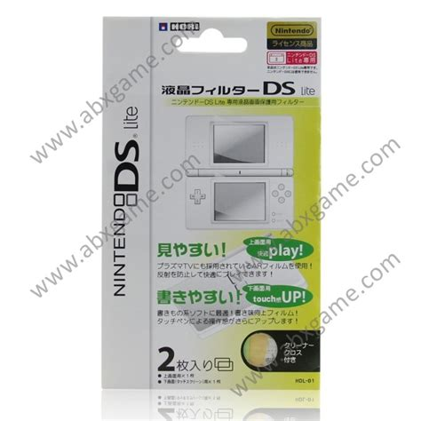 Anti Gores Nintendo Ds Lite anti scratch screen protector for nintendo ds lite abxgame